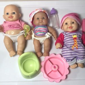 3 Baby Dolls Life like Berenguer + clothes +